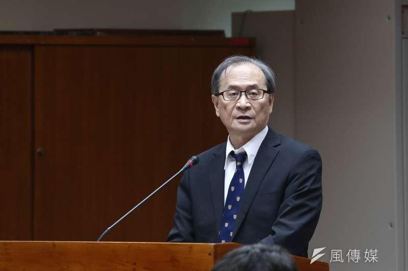 20181015-立法院教育及文化委員會,圖為原能會主委謝曉星。(陳品佑攝)