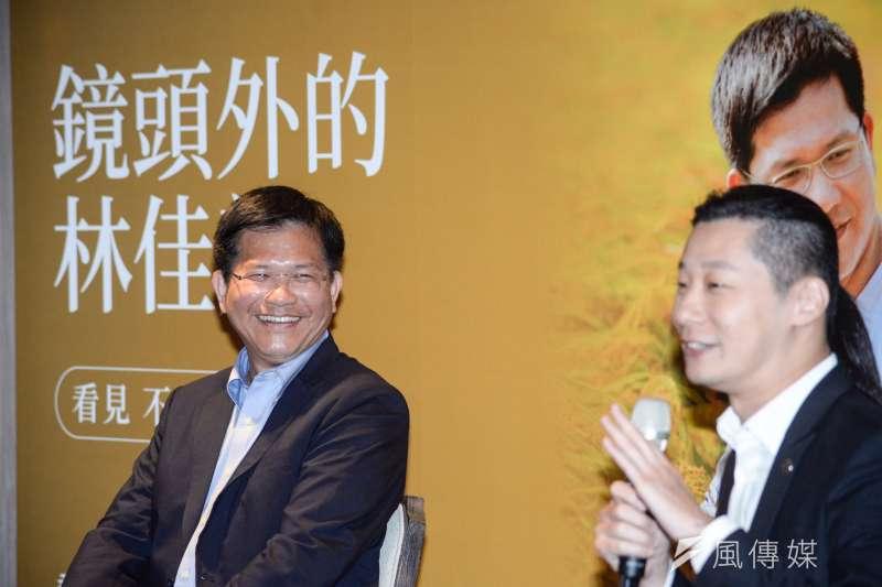 20181017-《鏡頭外的林佳龍》新書台北首發記者會,台中市長林佳龍。(甘岱民攝)