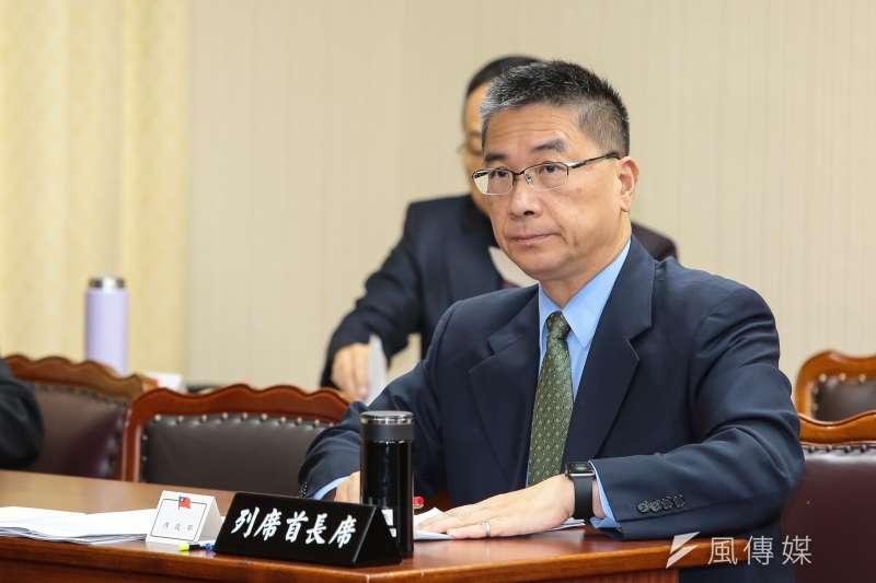 20181017-內政部長徐國勇17日出席內政委員會備詢。(顏麟宇攝)