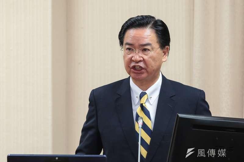外交部今(6)日針對非洲豬瘟議題開嗆中國「連自己的豬都管不好」,文末還署名JW(外交部長吳釗燮)。(資料照,顏麟宇攝)