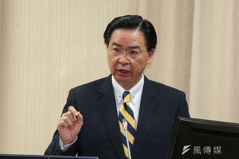 外交部長吳釗燮明將赴立法院報告,報告內容指出,不排除北京當局近期奪取台灣邦交國。(資料照,顏麟宇攝)