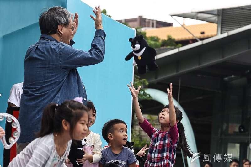20181020-台北市長柯文哲今(20)日在北投七星公園舉行行動競選總部開幕園遊會。