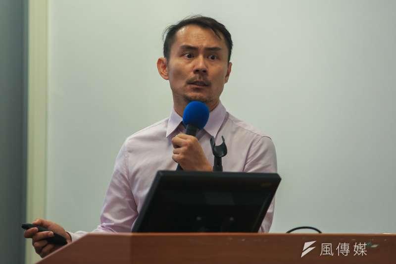 20181020-修復式司法的啟動者李駿逸主任檢察官今(20)日出席「修復式司法」座談會。(簡必丞攝)