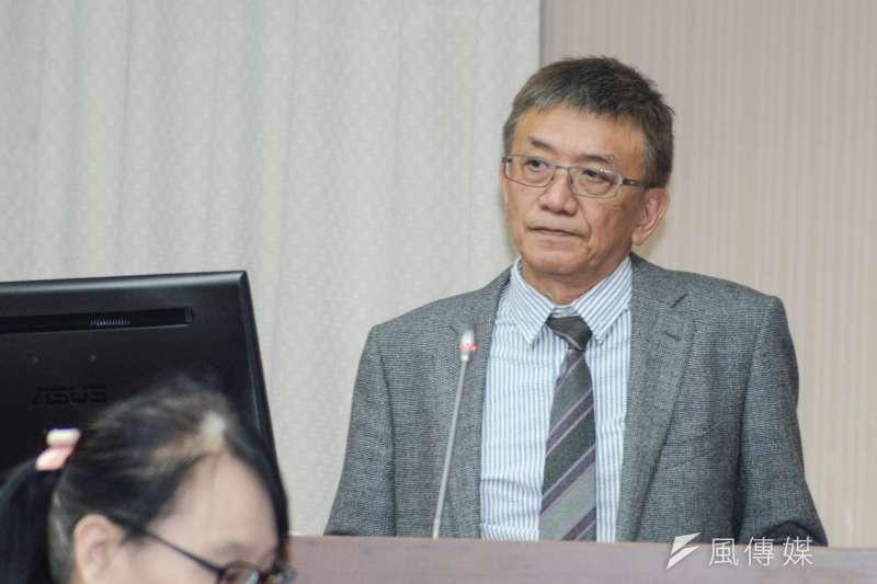 立法院交通委員會,飛安會主委楊宏智答詢。(甘岱民攝)