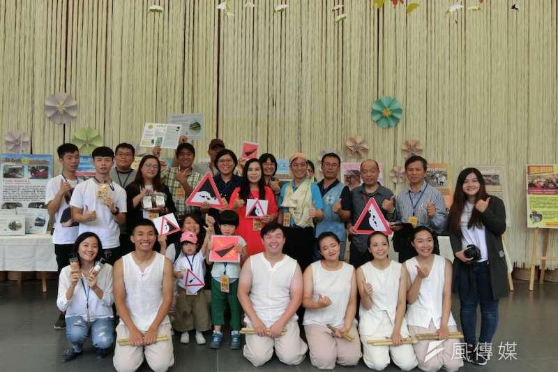 水土保持局南投分局結合大學及社區發表顛覆傳統的土砂災害宣導方式。(圖/王秀禾攝)