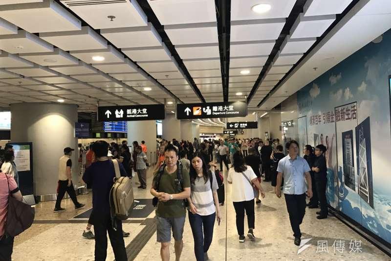 深廣深港高鐵香港西九龍站。(蔡娪嫣攝)