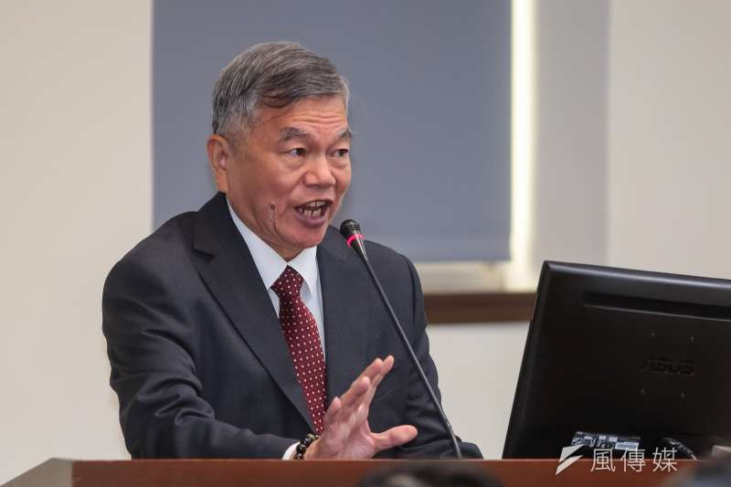 針對台灣宣示升格已開發國家,引發朝野議論。經濟部長沈榮津24日於經濟委員會備詢時表示,不影響任何台灣既有的貿易權益。(顏麟宇攝)