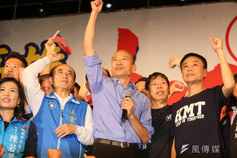 國民黨高雄市長候選人韓國瑜聲勢暴起。(新新聞柯承惠攝)
