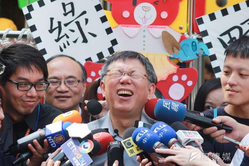 臺北市市長柯文哲前段時間出席青年創業論壇談「美學」時,因「台女不化妝上街嚇人」的言論引發外界批評。(方炳超攝)