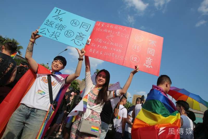 20181027-2018台灣同志遊行。(顏麟宇攝)