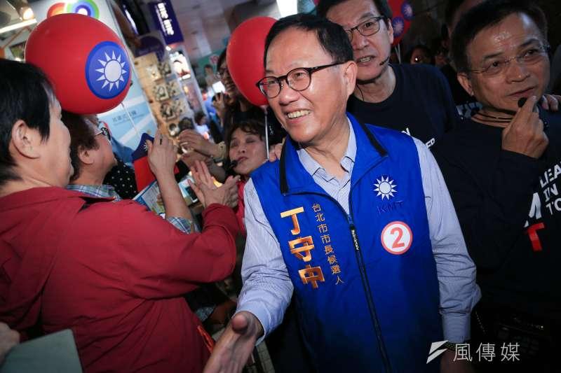 台北市長候選人丁守中31日表示只要時間允許,他也可以安排同黨高雄市長候選人韓國瑜同台機會,「大家互相互補的效應都非常強的,我們都歡迎」。(資料照,簡必丞攝)