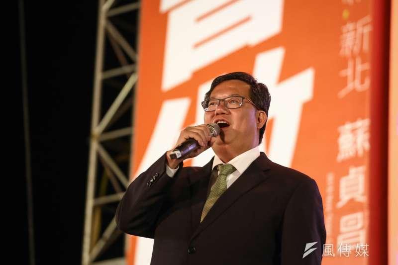 民進黨桃園市長候選人鄭文燦(見圖)24日打敗國民黨候選人陳學聖,為綠營在六都中搶下一席。(資料照,陳品佑攝)