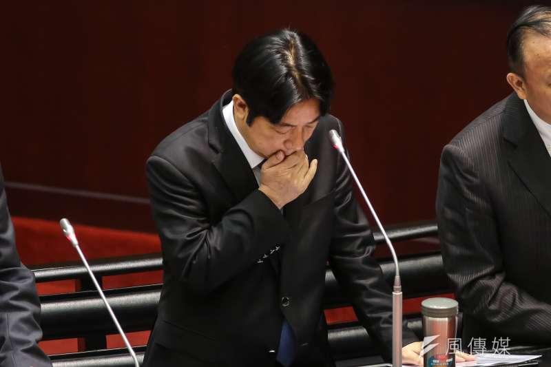 民進黨敗選後29日舉行首次便當會,行政院長賴清德再度跟同黨立委致歉,表示未來行政立法會持續互動。(資料照,顏麟宇攝)