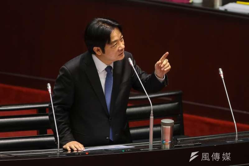 台灣民意基金會13日公布最新民調結果,台灣民眾對於行政院長賴清德內閣的施政滿意度不到4成。(資料照,顏麟宇攝)