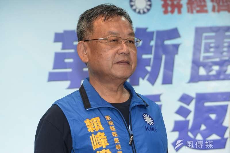 曾任2任澎湖縣長的賴峰偉(見圖)再度回鍋掌管縣政,談及兩岸政策,他表示就是要讓民眾賺到錢。(資料照,甘岱民攝)