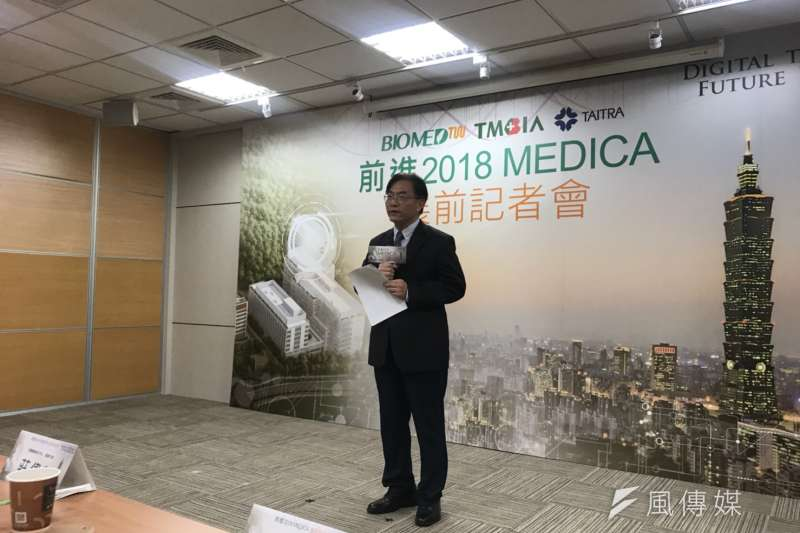 20181031-科技部生命科學研究司長莊偉哲認為,台灣醫材產業面臨賣不太出去的重大問題,因此國際化是非常重要的路途。(廖羿雯攝)