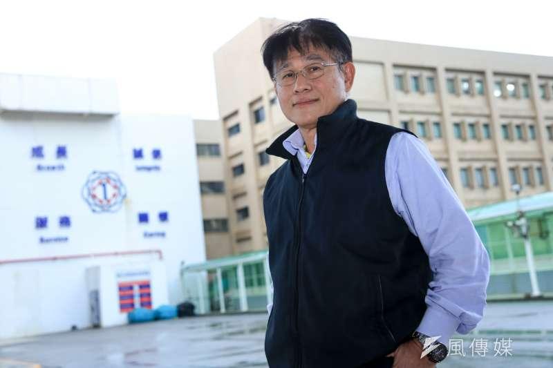 20181101-台電核一廠長蔡正益今(1)日接受風傳媒專訪。(簡必丞攝)