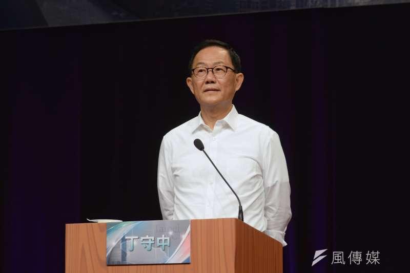 20181104-TVBS台北市長候選人辯論會,台北市長候選人丁守中。(甘岱民攝)