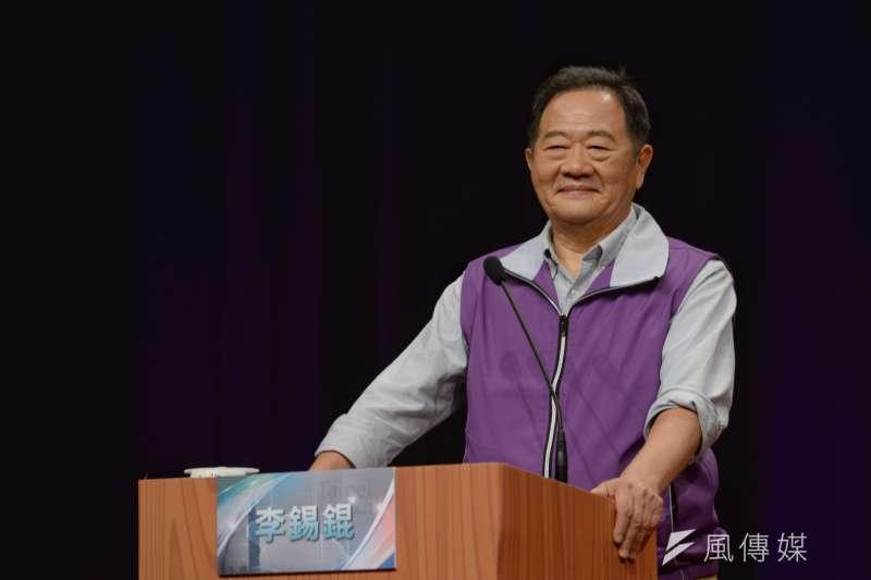 20181104-TVBS台北市長候選人辯論會,台北市長候選人李錫錕。(甘岱民攝)