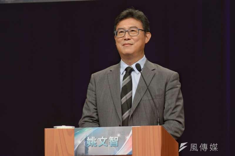 20181104-TVBS台北市長候選人辯論會,台北市長候選人姚文智。(甘岱民攝)