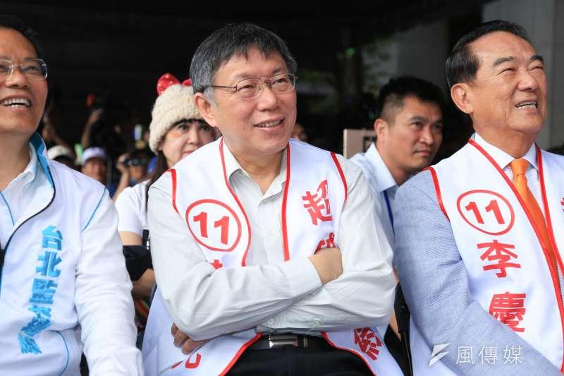 「柯文哲2020年要不要選總統,對他就是很嚴峻的決定了——如果不參,台北市長將是他最後一個政治職位。」(資料照,簡必丞攝)