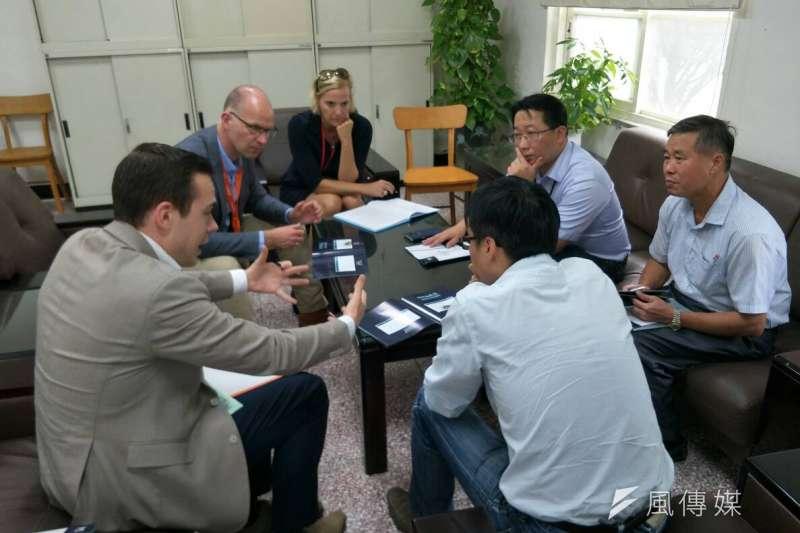 為促進環經濟的商機交流,荷蘭阿梅爾市府團隊及商務代表團來台,進行跨產業的討論與媒合,期待能促成跨國合作投資案。(圖/徐炳文攝)