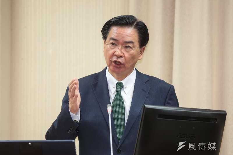 外交部表示,台灣多年來都在因應中國的攻勢,也是中國對世界發動攻勢的首站,台灣願意和其他國家分享這些經驗。圖為外交部長吳釗燮。(資料照,顏麟宇攝)