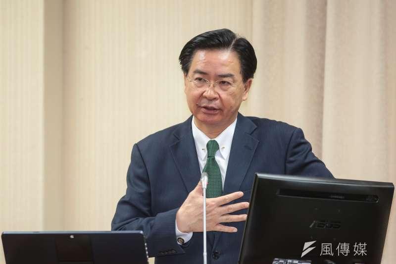 外交部長吳釗燮為口譯哥趙怡翔駐美擔任政治組組長背書。(資料照片,顏麟宇攝)