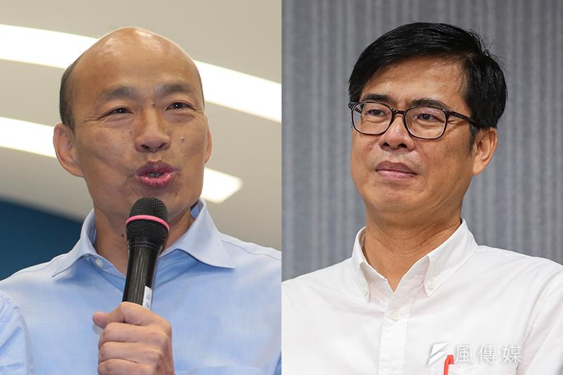 國民黨高雄市長候選人韓國瑜戰的有聲有色,民進黨候選人陳其邁却對應無方。(顏麟宇攝)