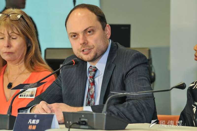 20181109-奧斯陸自由論壇記者會,弗拉基米爾.卡拉.穆爾札。(甘岱民攝)