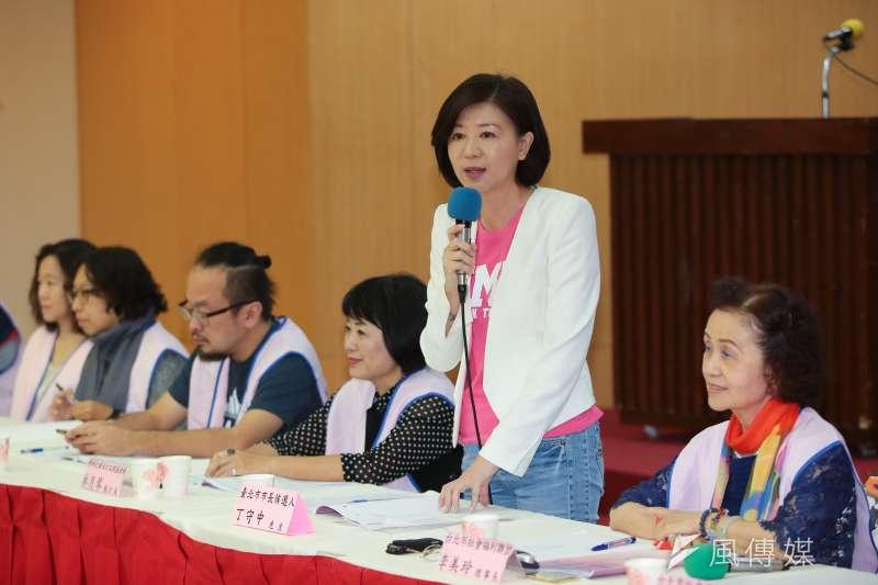 丁守中競選辦公室總幹事王育敏委員9日出席台北市社會福利聯盟社會福利政策白皮書發表會。(顏麟宇攝)