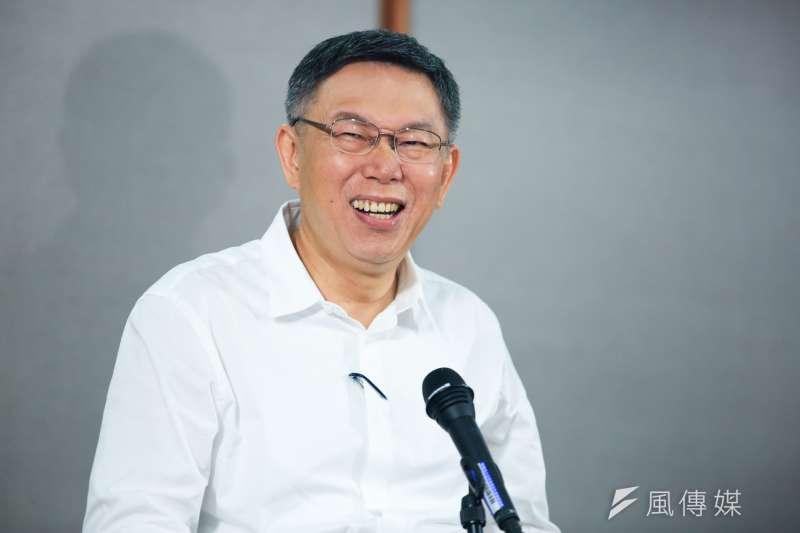 台北市長柯文哲出席參加10日公視電視辯論成為其他候選人攻防焦點,而柯文哲也在辯論會後出席記者會。(簡必丞攝)