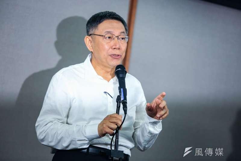 台北市長柯文哲10日出席公視電視辯論,針對柯媽媽罵姚文智「沒路用」讓姚文智母親氣到發抖,柯文哲表示常常是作用力、反作用力。(簡必丞攝)