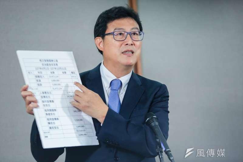 台北市長參選人姚文智表示,他在辯論會公布的支出就是台北市長柯文哲的兩倍。(資料照,簡必丞攝)