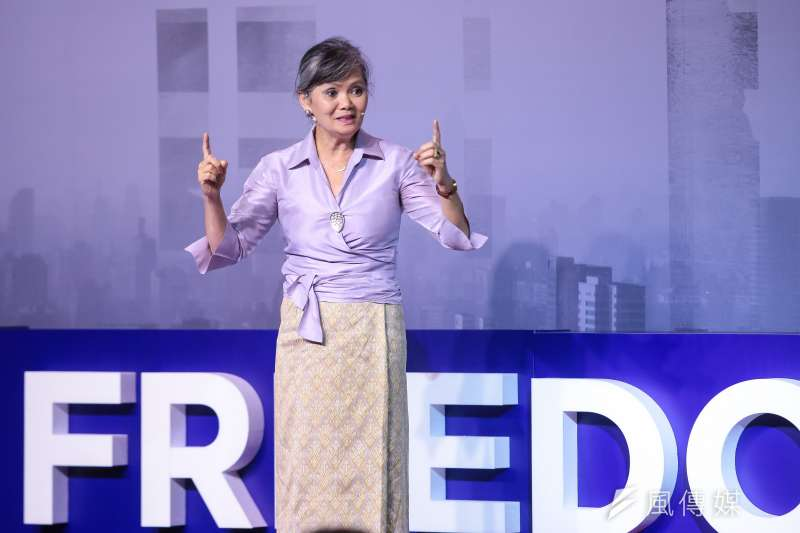 奧斯陸自由論壇登陸台灣,柬埔寨救國黨副領袖莫淑華(Mu Sochua)。(顏麟宇攝)