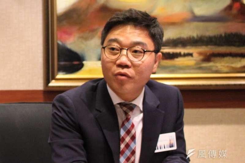 2018年11月10日,奧斯陸自由論壇,專訪脫北者池成鎬。(簡恒宇攝)