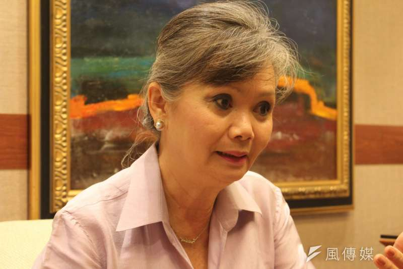 2018年11月10日,奧斯陸自由論壇,專訪柬埔寨政治家莫淑華(Mu Sochua)。(蔡亦寧攝)