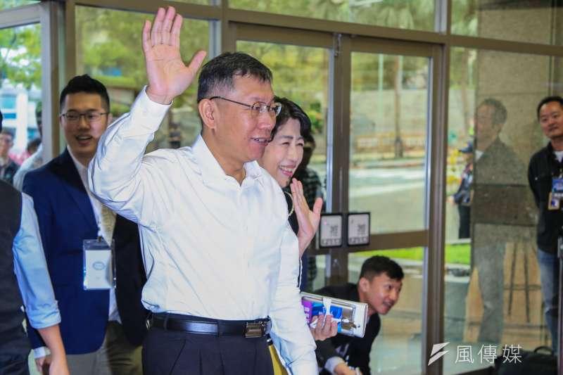 20181110-台北市長柯文哲出席參加公視電視辯論。(簡必丞攝)