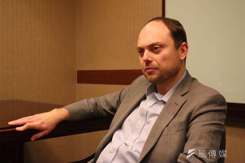 2018年11月10日,奧斯陸自由論壇,專訪俄羅斯民主運動者( Vladimir Kara-Murza)。(蔡娪嫣攝)