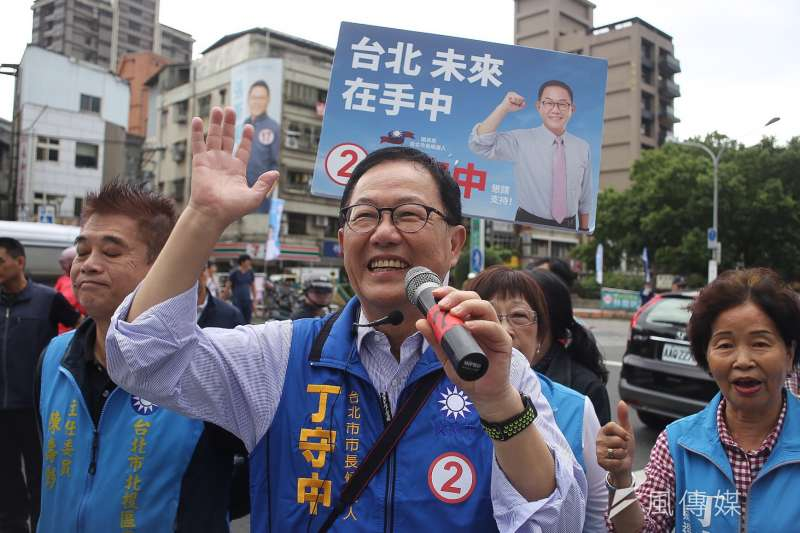 國民黨台北市長候選人丁守中13日表示,他絕對反對故宮閉館3年,認為此舉絕對有政治考量,更有嚴重去中國化的問題。(陳品佑攝)