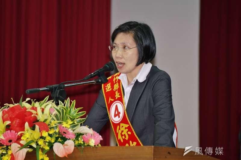 民國黨25日與國會政黨聯盟合併,徐欣瑩是否參加明年竹縣第一選區立委選舉,關係是否重演「三腳督」形勢。(資料照,盧逸峰攝)
