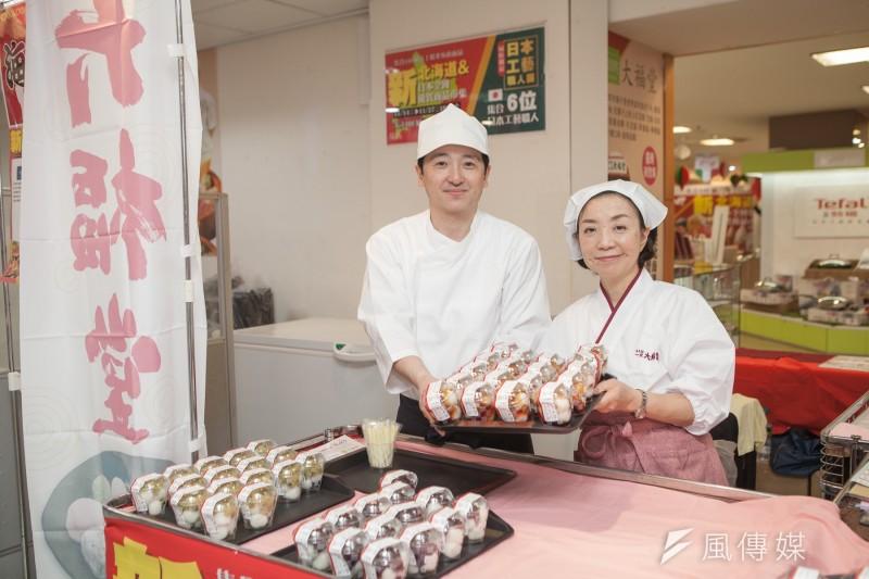 期14天的北海道物產展、日本工藝展將隆重登場,集結北海道在地特色農產品、和風甜點等20家以上日本企業。(圖/徐炳文攝)