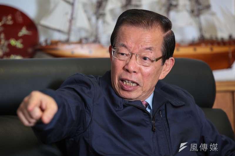 對於福島核廢水排放問題,駐日代表謝長廷積極表態,隔海掀起激烈「內戰」。(顏麟宇攝)