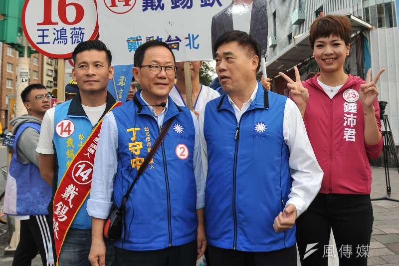 國民黨台北市長候選人丁守中發起「投票救台灣」運動,訴求「台灣不能輸,台北要先贏」。(資料照,甘岱民攝)
