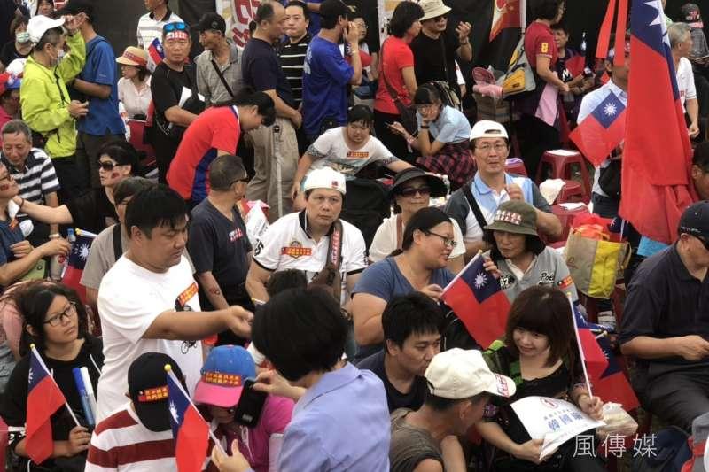 國民黨高雄市長候選人韓國瑜造勢晚會11月17日在鳳山舉行。(劉昆霖攝)