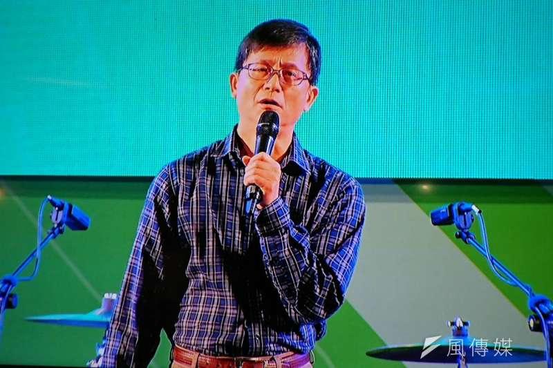 2018年11月17日,前環保署副署長詹順貴為林佳龍站台(林瑋豐攝)