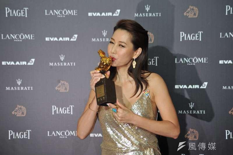 第55屆金馬獎最佳女配角獎,由《幸福城市》的丁寧奪下,敬業的她熬了20多年,終於獲得肯定。(甘岱民攝)