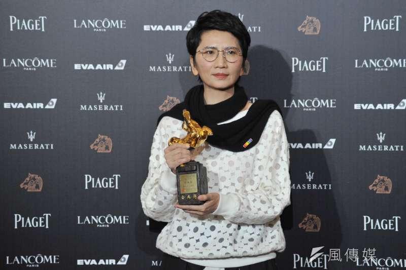 第55屆金馬獎最佳剪輯獎由《誰先愛上他的》的雷震卿拿下。(甘岱民攝)
