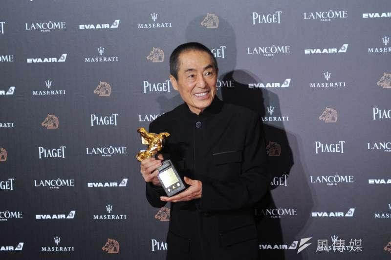 第55屆金馬獎,最佳導演由拍了40年首次入圍的張藝謀奪下。(甘岱民攝)