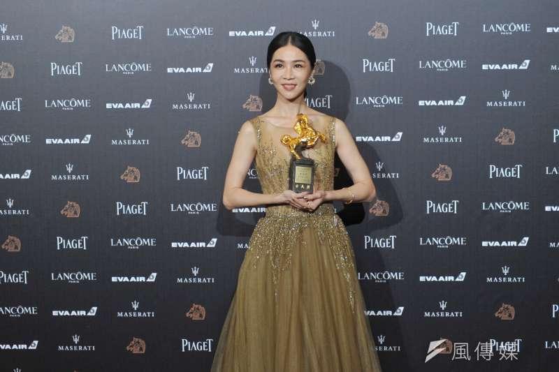 20181117-第55屆金馬獎,《誰先愛上他》最佳女主角謝盈萱。(甘岱民攝)